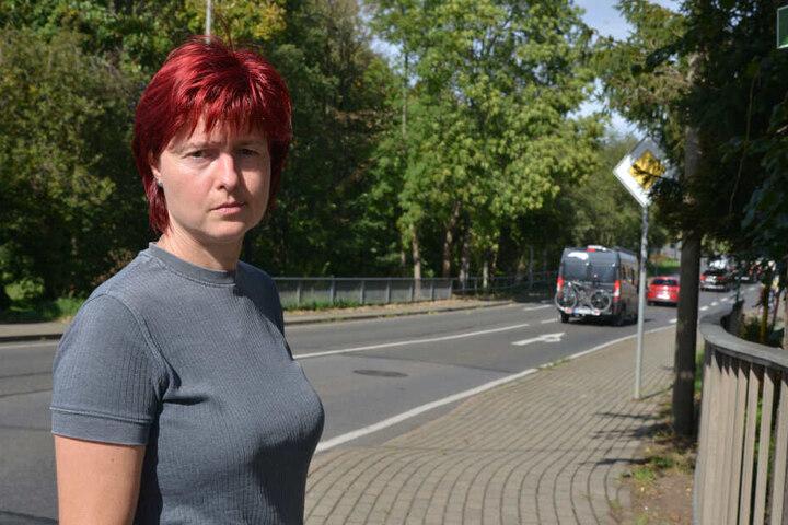 "Viola Chigner (48) fordert Blitzer an der ""Brettmühle""."