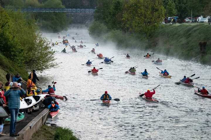 Auch viele Zuschauer fanden sich zu dem Wesermarathon ein.