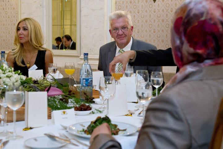 Baden-Württembergs Ministerpräsident Winfried Kretschmann (Grüne) beim Iftar-Empfang anlässlich des traditionellen muslimischen Fastenbrechens im Ramadan. (Archivbild)
