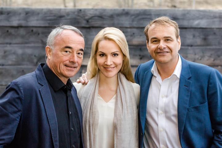 Mattias Pfeffer, Judith Rakers und Marcus Wolter (von links) gründeten Jukers Media.