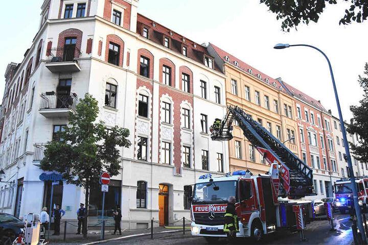 Im 2. Obergeschoss des Wohnhauses in Görlitz brach das Feuer aus.