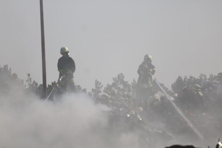 Die Mülldeponie stand in Flammen.
