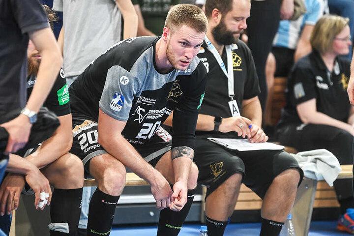 Betretene Miene nach der Niederlage bei HCE-Spieler Nils Kretschmer.