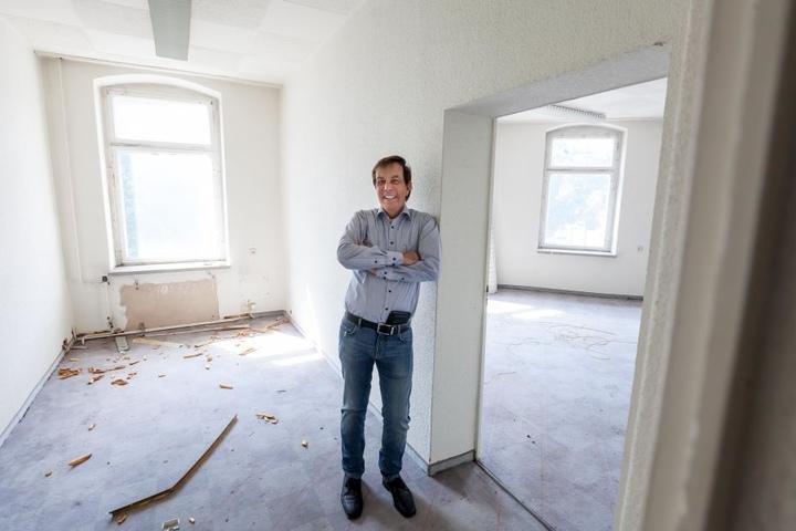 """""""Chemnitz ist die Zukunft"""", sagt der Investor Dietmar Jung - Hier in seinem neuen Objekt in der Mühlenstraße."""