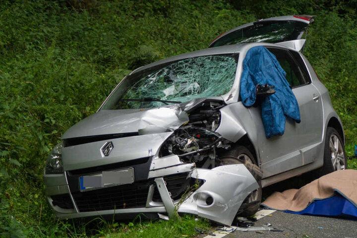 Das Ehepaar des zweiten Fahrzeugs kam mit einem Schrecken davon.