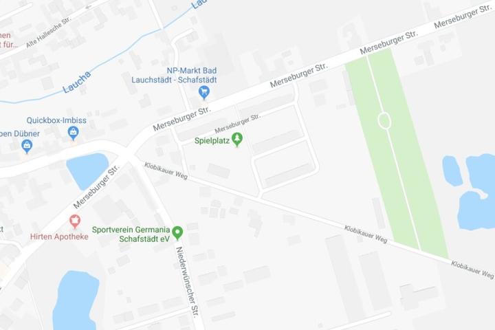 Der Vorfall ereignete sich an einer Bushaltestelle an der Merseburger Straße.