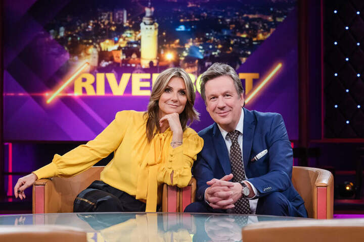 """Die """"Riverboat""""-Moderatoren Kim Fisher (49) und Jörg Kachelmann (60)."""