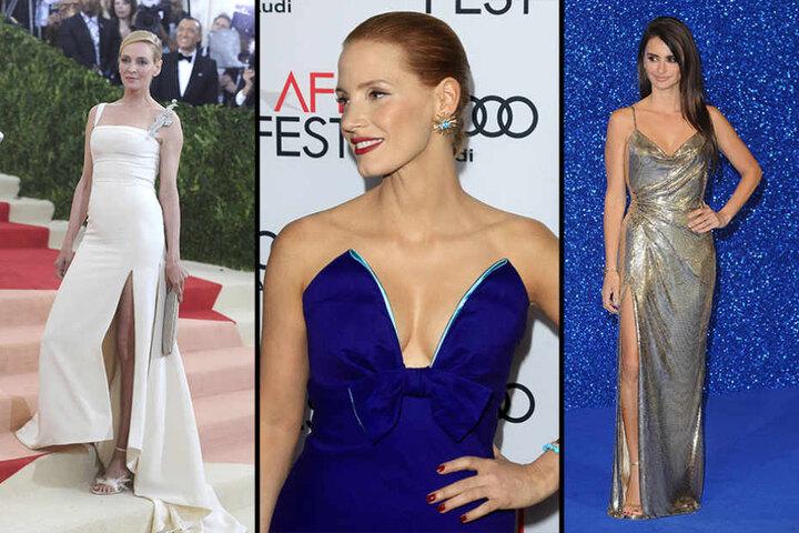 Uma Thurman,Jessica Chastain und Penélope Cruz (v.l.n.r.)
