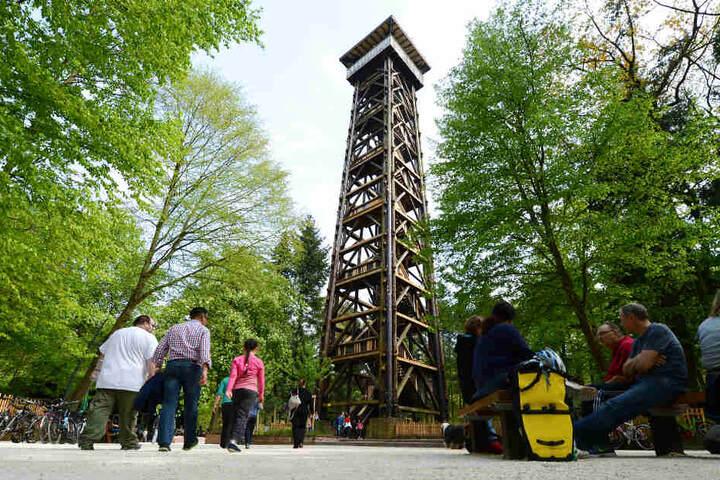 Dieses Foto aus dem Jahr 2014 zeigt den Goetheturm in seinem ursprünglichen Zustand.