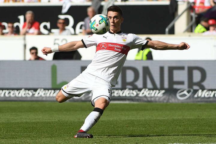 Erik Thommy (23) ist ein ernsthafter Konkurrent im Stuttgarter Sturm.