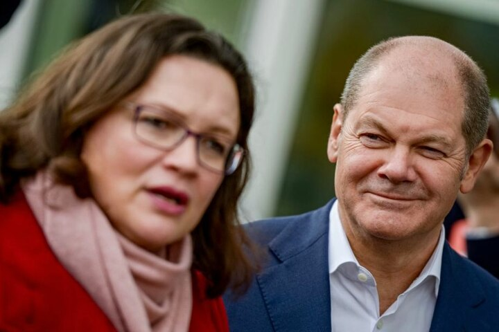 Andrea Nahles und Olaf Scholz können aufatmen: Die SPD kann in die Groko gehen.