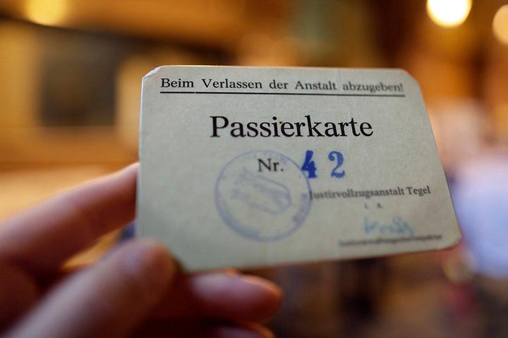 Zugang zur JVA Tegel gibt's nur mit Passierkarte.