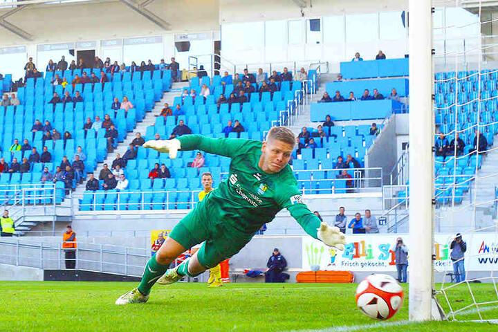Jakub Jakubov bestritt alle 16 Regionalliga-Spiele für den CFC. Am Sonnabend gegen Bischofswerda durfte der Torhüter erstmals im Pokal ran und parierte mehrfach stark.