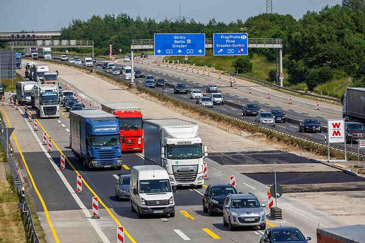 Rund um Dresden gibt es auch dieses Jahr Behinderungen auf den Autobahnen.