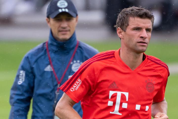 Thomas Müller könnte gegen Eintracht Frankfurt sein 500. Pflichtspiel für den FC Bayern absolvieren.