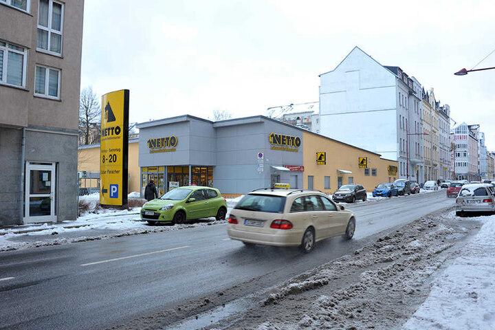 Supermärkte wie der Netto in der Limbacher Straße stören das Gesamtbild des  Szeneviertels.