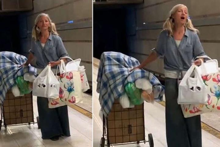 In der vergangenen Woche filmte der Poilzeibeamte die bis dahin unbekannte Frau beim SIngen.