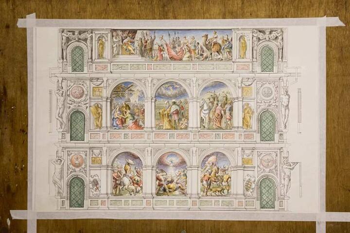 So soll der Bilderbogen einmal wieder aussehen. Die Urfassung entstand vor fast 500 Jahren. Urheber waren zwei italienische Künstler.