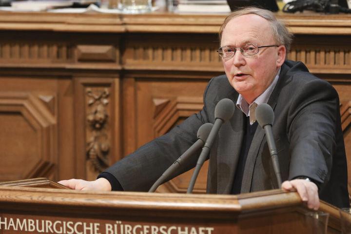 Kurt Duwe (FDP) spricht während einer Sitzung der Hamburgischen Bürgerschaft.