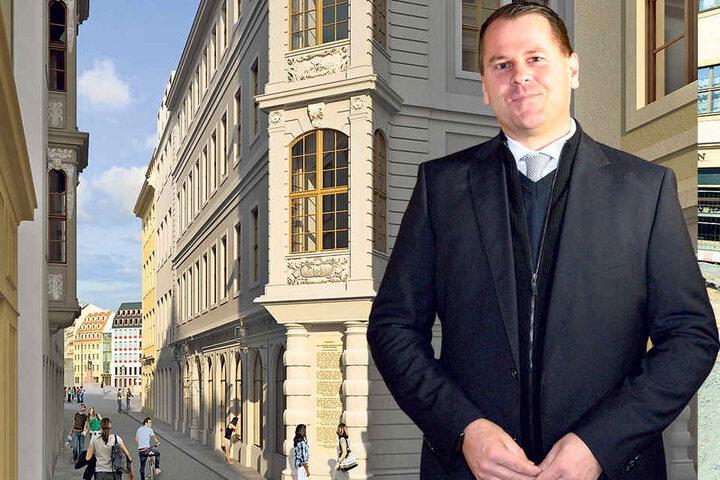 """Für Michael Kimmerle (42) ist es selbstverständlich, an die Geschichte des Gebäudes als """"Judenhaus"""" zu erinnern."""