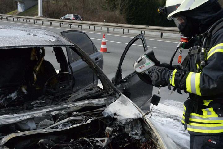 Der Volvo hatte nach dem Feuer nur noch Schrottwert.