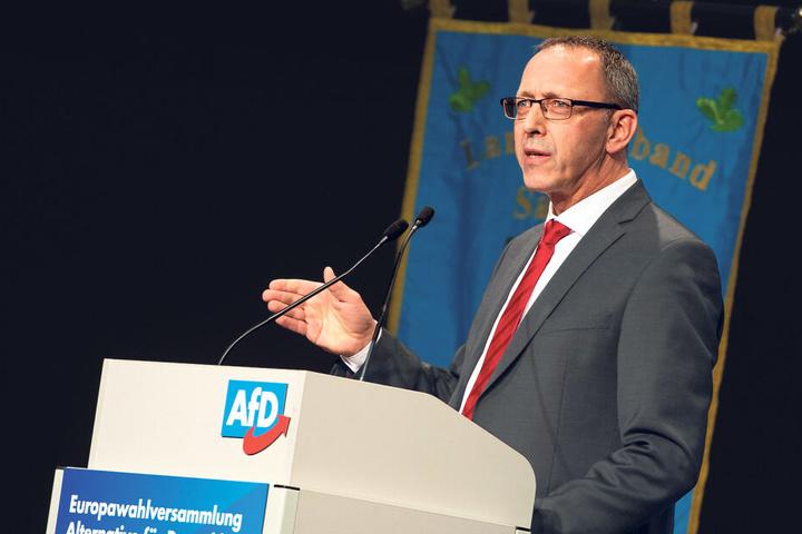 Sachsens AfD-Chef Jörg Urban (55): Seine Partei steht in Umfragen gut da.
