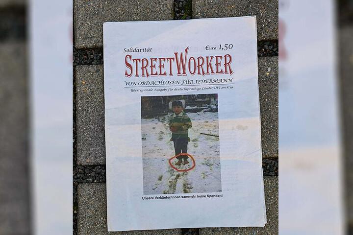 """Unter anderem vor dem Kaufland an der Borsbergstraße wurden die Verkäufer des """"Streetworker"""" gesichtet."""