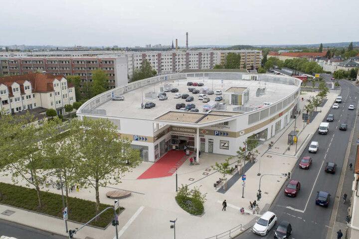 Der Markt von oben. Auf dem Gelände stand ganz früher das bekannte Kaufhaus Günther.