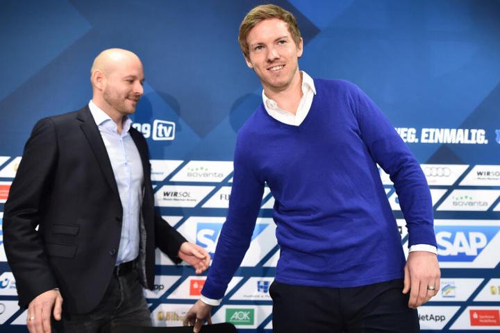 Mit Sportchef Alexander Rosen (links) war Nagelsmann vor kurzem noch bei einem Canyoning-Ausflug.