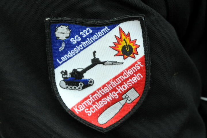 Das Wappen des Kampfmittelräumdienstes des Landeskriminalamtes.