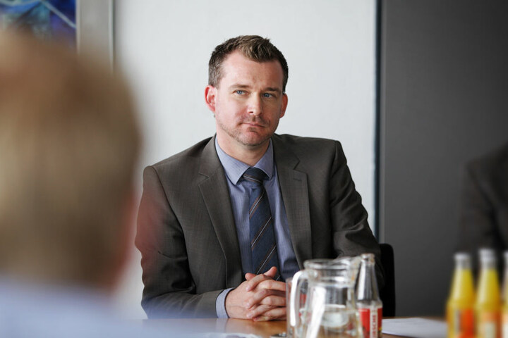 Baubürgermeister Raoul Schmidt-Lamontain (40, Grüne)