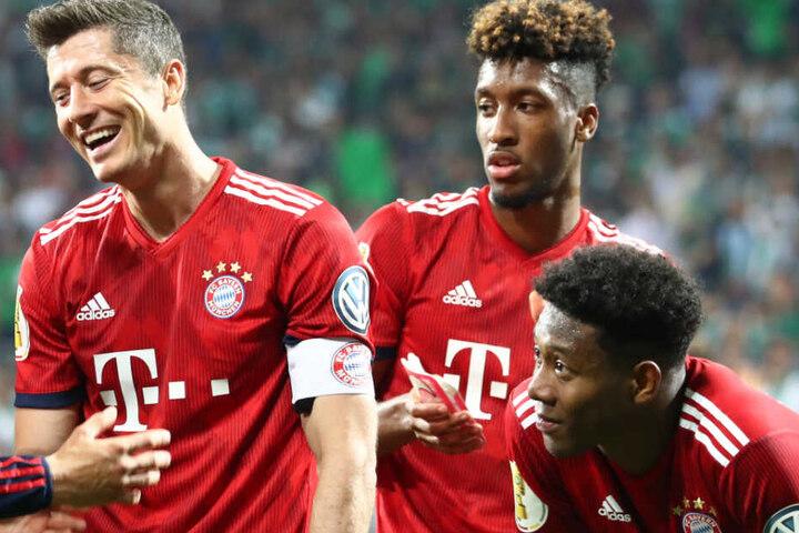Grund zum Feier: Der FC Bayern München steht einmal mehr im Finale des DFB-Pokals.