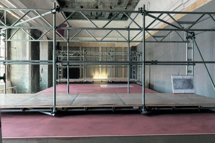 Kaum zu glauben, dass hier in einem Jahr schon einer der schönsten Räume des Schlosses glänzen wird: Augusts Paradeschlafzimmer im Rohbau.