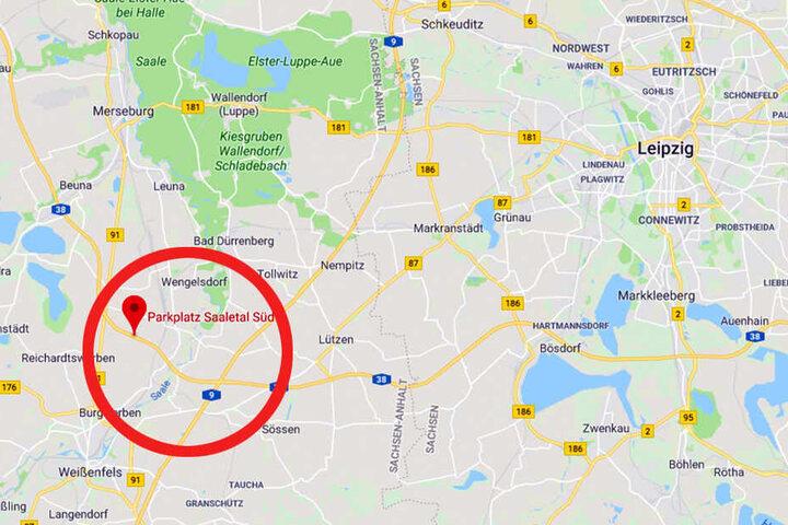 """Am Rastplatz """"Saaletal Süd"""" in Schkortleben vergaß der Mann seine Frau."""