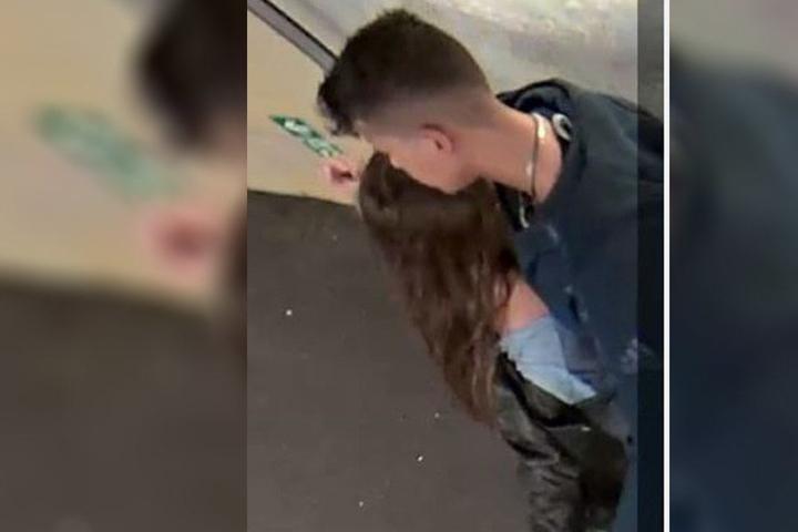Der Täter mit seiner Freundin.