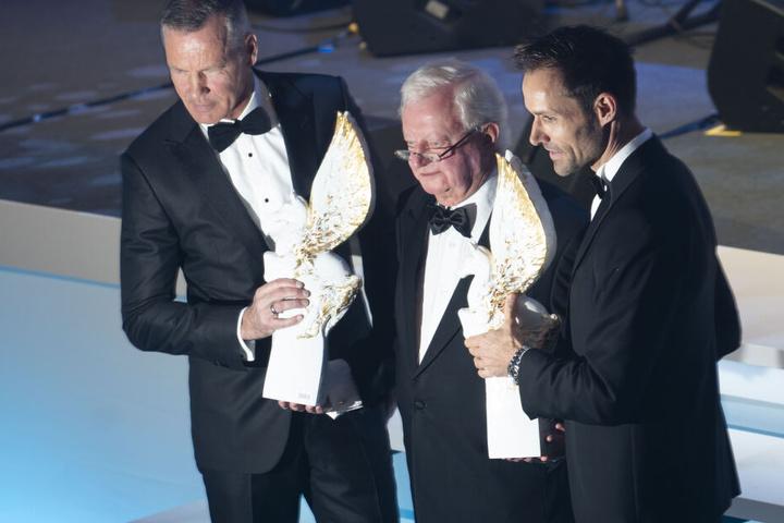 Henry Maske und Sven Hannawald wurden am Samstag beim Sportpresseball ausgezeichnet.
