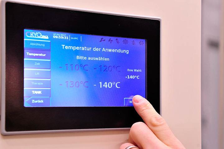 Der Beweis: Hier herrschen minus 140 Grad!