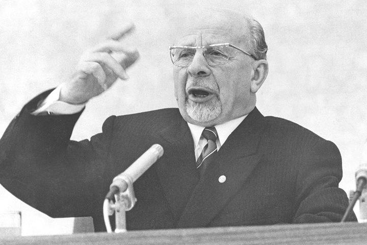 Walter Ulbricht (1893-1973) war von 1949 bis 1971 der mächtigste Mann der DDR.