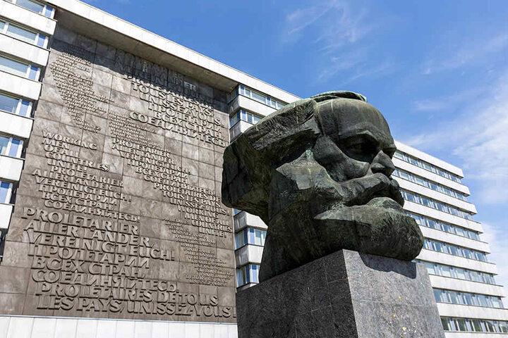 Auch die Stadt Chemnitz mit ihrem berühmten Karl-Marx-Monument im Zentrum bewirbt sich als Kulturhauptstadt 2025.