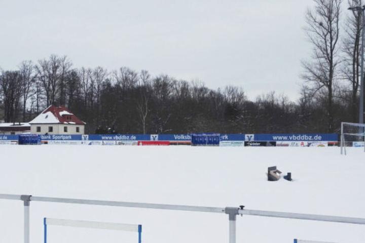 Bei diesen Schneemassen konnte die Partie am 10. Februar nicht ausgetragen werden. (Archivbild)