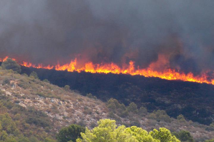 Bei dem Brand soll es sich wohl um Brandstiftung handeln.