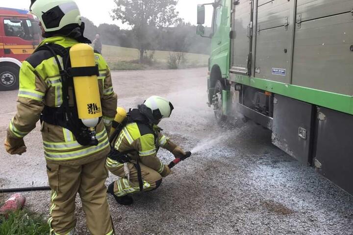 Die Feuerwehr übernahm die Restablöschung.