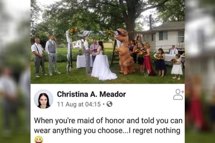 Die Dinosaurier-Frau bereut gar nichts.