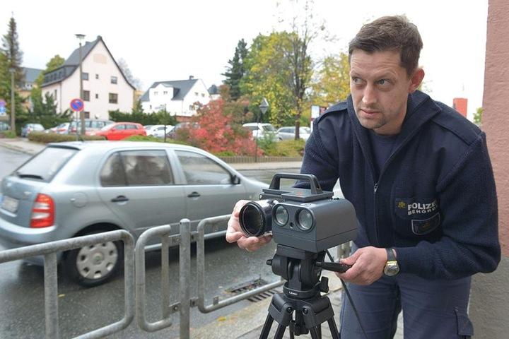 Raser im Visier: Sebastian Meyer (38).