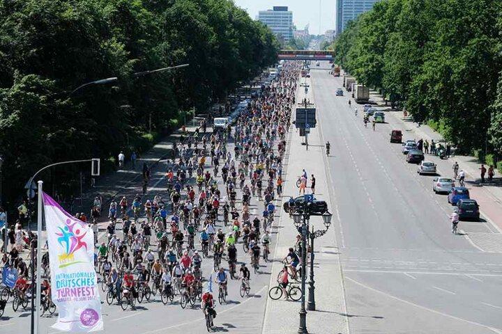 Zehntausende Radfahrer waren auf Berlins Straßen unterwegs