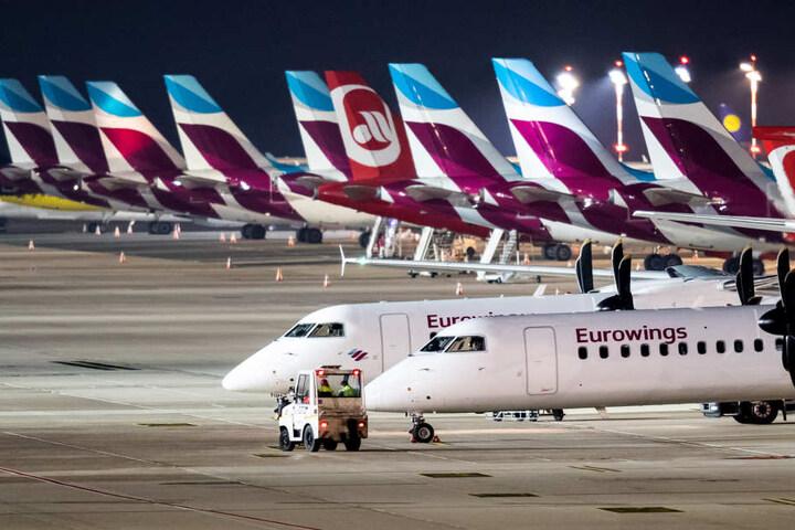 Besonders häufig landeten die Eurowings-Flieger verspätet.
