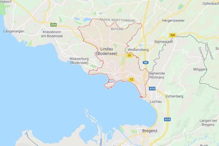 Der Fernbus war auf der Fahrt nach Wien, machte jedoch in Lindau in Bayern halt.