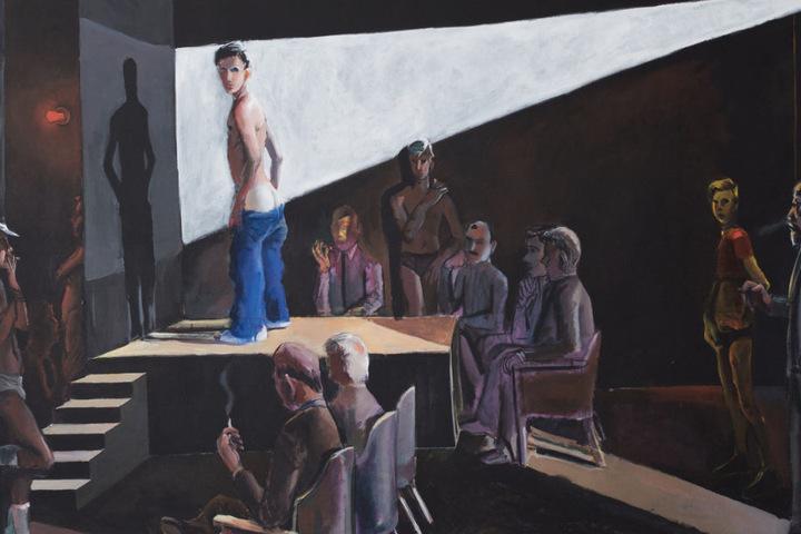 Durchaus provokante Bilder von Patrick Angus zeigt das Kunstmuseum Stuttgart.