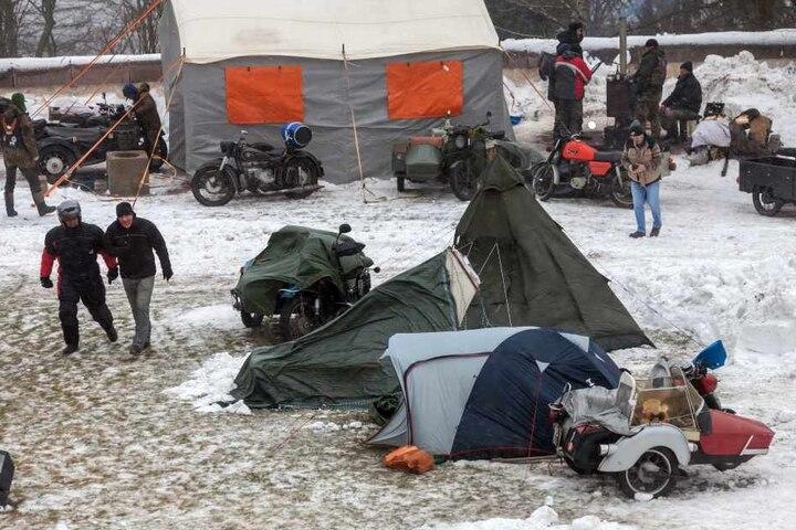Der Sturm hatte in der Nacht für Chaos auf dem Zeltplatz gesorgt.