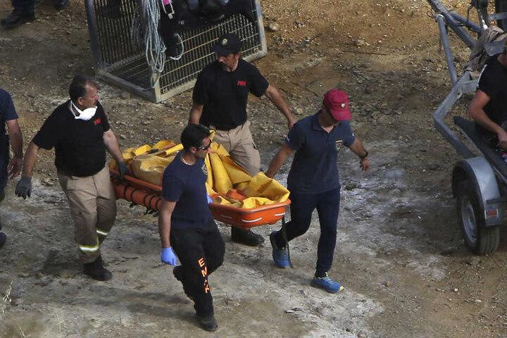 Bereits am fünften Mai hatte die Polizei einen Koffer mit Leichenteilen gefunden.